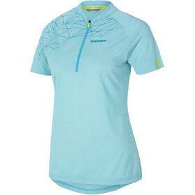 Ziener Clodette Fietsshirt korte mouwen Dames turquoise